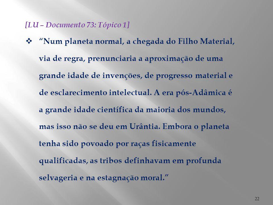 [LU – Documento 73: Tópico 1]